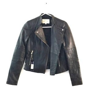 NWT River Island Black Leather Jacket